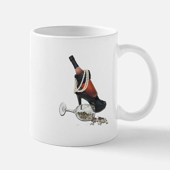 Wine Bottle Heels Pearls and Mug