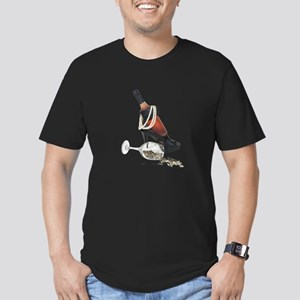 Wine Bottle Heels Pearls and Men's Fitted T-Shirt