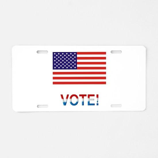 Vote Aluminum License Plate