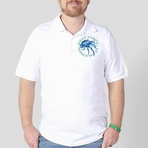 Blue Coconut Crab Golf Shirt