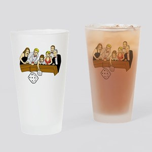 Craps Table Drinking Glass