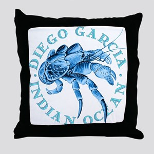 Blue Coconut Crab Throw Pillow