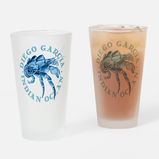 Blue Coconut Crab Drinking Glass