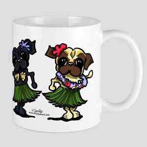 Hula Dancer Pugs Mug