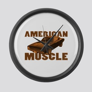 1968 Dodge Charger Copper Cam Large Wall Clock