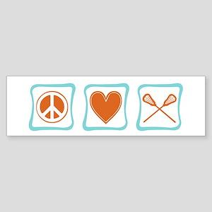 Peace, Love and Lacrosse Sticker (Bumper)
