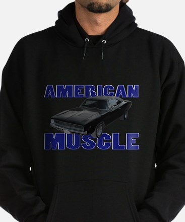 1968 Dodge Charger Blue Hoodie (dark)