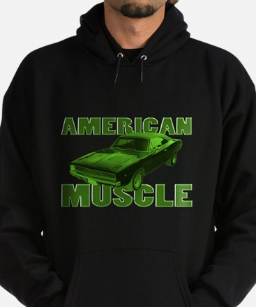 1968 Dodge Charger Lime Hoodie (dark)