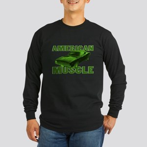 1968 Dodge Charger Lime Long Sleeve Dark T-Shirt