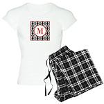 Diamond Red Monogram Women's Light Pajamas