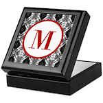 Diamond Red Monogram Keepsake Box