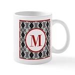 Diamond Red Monogram Mug