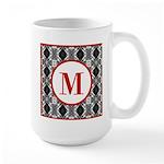Diamond Red Monogram Large Mug