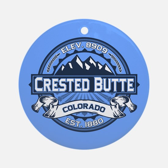 Crested Butte Blue Ornament (Round)