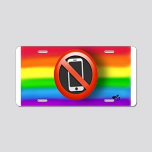 O PHONE gay rainbow art Aluminum License Plate