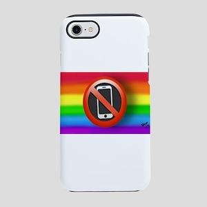 O PHONE gay rainbow art iPhone 7 Tough Case