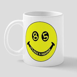 85th birthday smiley face Mug