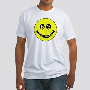 85th birthday smiley face Fitted T-Shirt