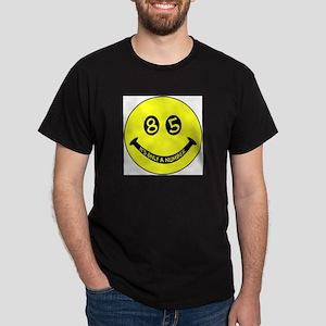 85th birthday smiley face Black T-Shirt