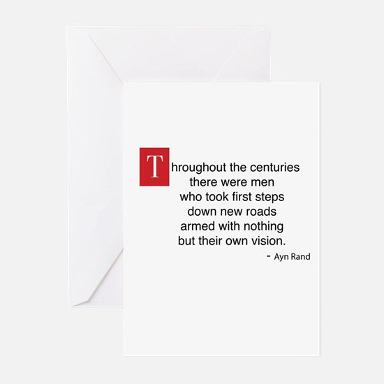 AynRand Quote Greeting Cards