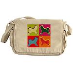 Alaskan Malamute Silhouette Pop Art Messenger Bag