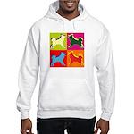 Alaskan Malamute Silhouette Pop Art Hooded Sweatsh