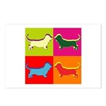 Basset Hound Silhouette Pop Art Postcards (Package