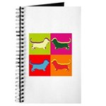 Basset Hound Silhouette Pop Art Journal