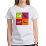 Basset Hound Silhouette Pop Art Women's T-Shirt