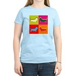 Basset Hound Silhouette Pop Art Women's Light T-Sh