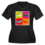Basset Hound Silhouette Pop Art Women's Plus Size