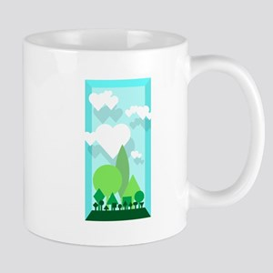 green with clouds Mug