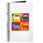 Bearded Collie Silhouette Pop Art Journal