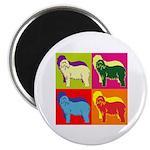 Bearded Collie Silhouette Pop Art Magnet