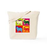 Bearded Collie Silhouette Pop Art Tote Bag
