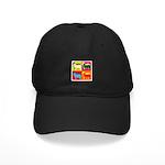Bearded Collie Silhouette Pop Art Black Cap