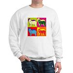 Bearded Collie Silhouette Pop Art Sweatshirt