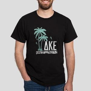 Delta Kappa Epsilon Palm Trees Dark T-Shirt