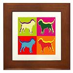Bloodhound Silhouette Pop Art Framed Tile