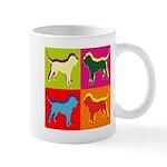 Bloodhound Silhouette Pop Art Mug