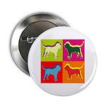 Bloodhound Silhouette Pop Art 2.25