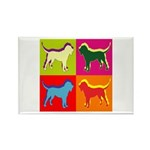 Bloodhound Silhouette Pop Art Rectangle Magnet (10