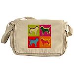 Bloodhound Silhouette Pop Art Messenger Bag