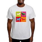 Bloodhound Silhouette Pop Art Light T-Shirt