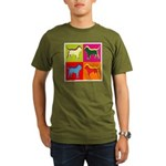 Bloodhound Silhouette Pop Art Organic Men's T-Shir