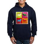 Alaskan Malamute Silhouette Pop Art Hoodie (dark)