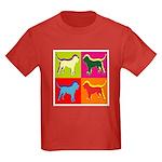 Bloodhound Silhouette Pop Art Kids Dark T-Shirt