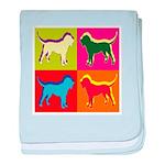 Bloodhound Silhouette Pop Art baby blanket