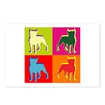 Boston Terrier Silhouette Pop Art Postcards (Packa