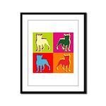 Boston Terrier Silhouette Pop Art Framed Panel Pri